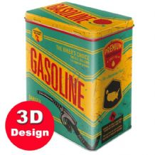 Gasoline (Garage) - Embossed Storage Tin